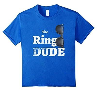 The Ring Dude Wedding Boy Bearer Funny Cute Kids T shirt Tee