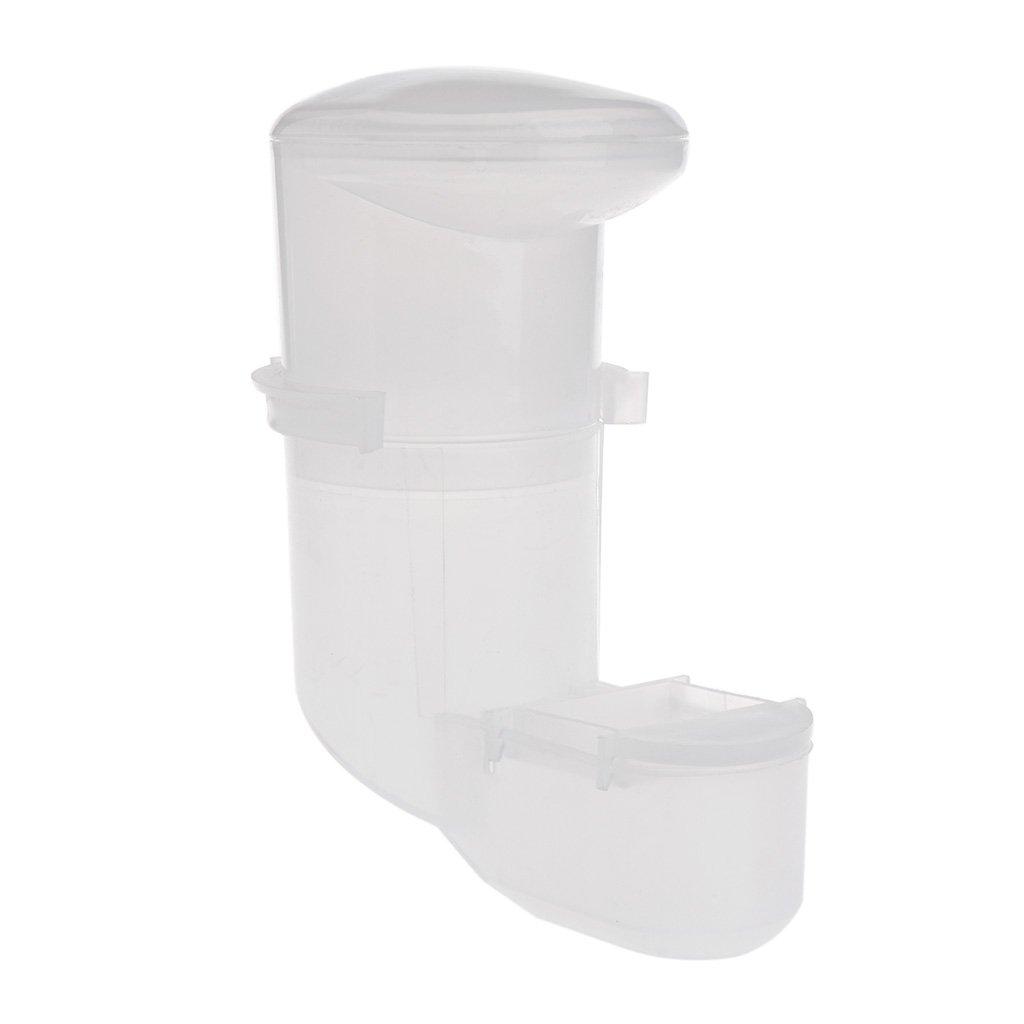 Tandou - Comedero automático para pájaros, alimentador de Agua, Bebedero y Loro, dispensador de Clip, Jaula