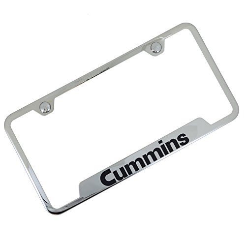 Chrome Etched Vanity (Cummins Laser Etched Chrome Cut-Out Frame)