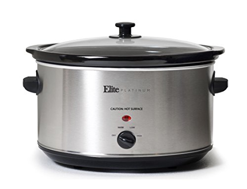 Elite Platinum 8.5 Quart Stainless Steel Slow Cooker