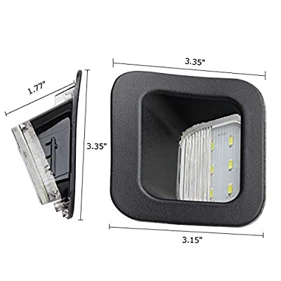 RUXIFEY LED License Plate Light Lamps Compatible with 2003 to 2020 Dodge Ram 1500 2500 3500, 6000K White: Automotive