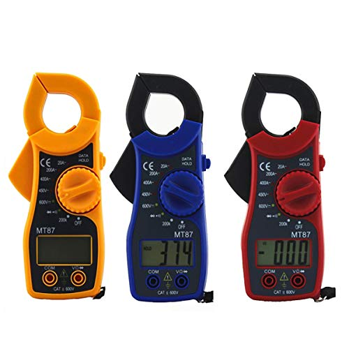 Digital Clamp Meter Multimeter AC/DC Voltmeter Current Resistance Diode Tester Ammeter (Color : Red)