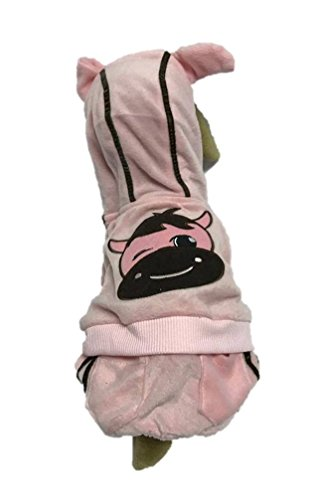 Cowdog Costume (MeiQi Pet Products Factory Lovely Pink & Brown Cow Dog Costume Coat Jacket Clothes Pet Farm Animal LG)