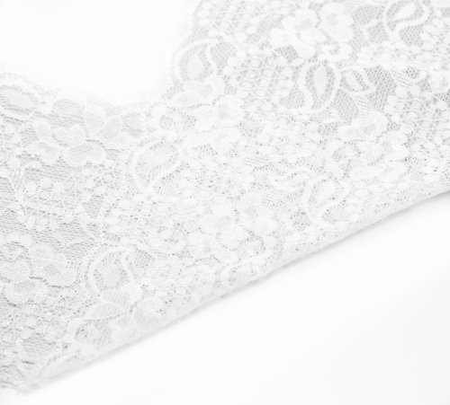 Housweety Yards White Stretch Lace