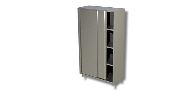 Armario 190 x 70 x 200 acero inoxidable 304 puertas correderas restaurante Pizzeria rs6012: Amazon.es: Hogar