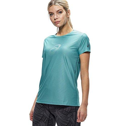 Asics Essentials Graphic Women's Correr T-Shirt - AW16 Türkis