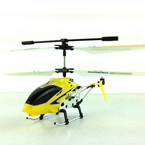 - XuBa Mini Alloy RC Helicopter S107G Drones with LED Light 3.5 CH 6 Axis Gyro RC Copter Flying Toy Remote Control Fuselage Copter Toys Yellow