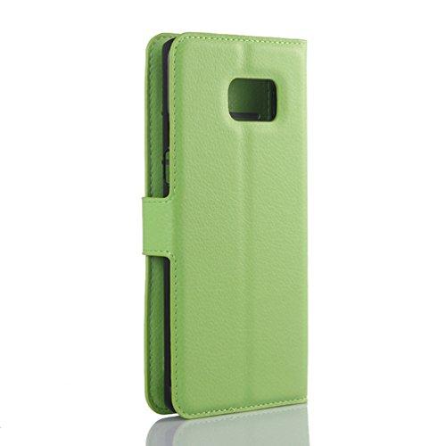 Funda Samsung Galaxy S6 edge,Manyip Caja del teléfono del cuero,Protector de Pantalla de Slim Case Estilo Billetera con Ranuras para Tarjetas, Soporte Plegable,Cierre Magnético(JFC9-8) H