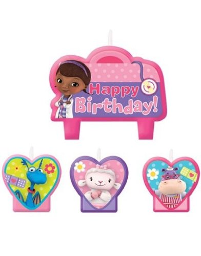 Price comparison product image Doc McStuffins Birthday Party Cake Candles - 4ct