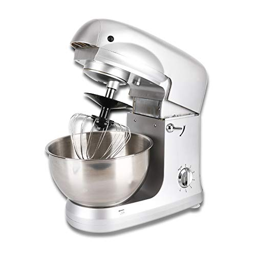 Hand Dough Mixer, Vertical Mixer Commercial Multi-function Chef Machine Automatic Small Mixing Kneading Machine Eggbeater, Small Appliances,White