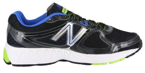 New Balance Men's M680V2 Running Shoe, Black/Blue, 11 4E US