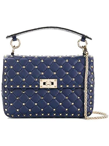 Valentino Women's Rw2b0122napcg6 Blue Leather Shoulder, used for sale  Delivered anywhere in USA