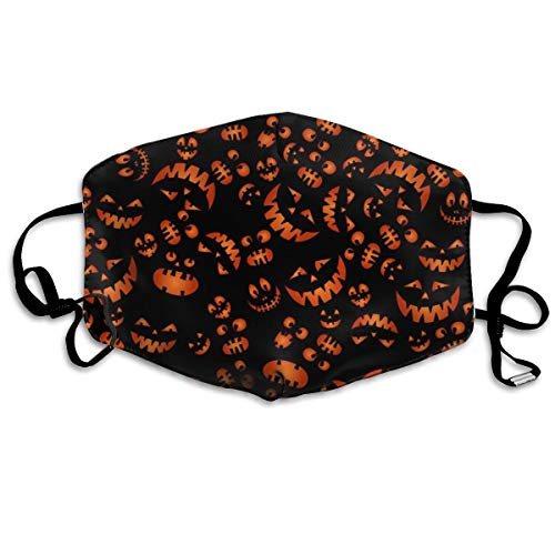 Dust Mask Pumpkins Scary Faces Washable and Reusable Cool Face Mouth Mask for Men Women Protective Breath Safety Warm Windproof]()