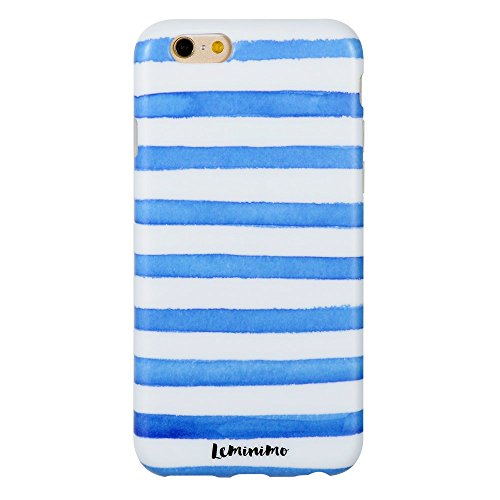 iPhone 6S Case, Leminimo(TM) Anti Shock Design TPU Flexible Case For iPhone 6 6S [4.7 inch Display] - Striped Sailor Print Pattern Slim Fit Snap On Shell Full Protection (Pattern Sailor)
