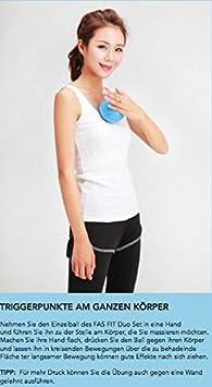 Faszien Fitness Sets aus Kork Duoball Faszienball und Faszienrolle auch einzeln erh/ältlich
