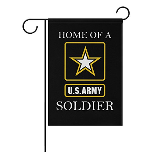 Army Garden Flag - Donnapink US Army HOME OF A SOLDIER American Military United States Army Weatherproof Polyester Garden Flag 12