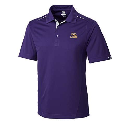 NCAA Men's CB Dry Tec Foss Hybrid Polo,Lsu Tigers,College -