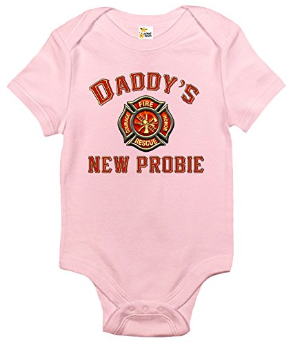 Rapunzie Daddy's New Probie Baby Bodysuit Cute Baby Clothes for Infant Boys and Girls (0-3 Months, -