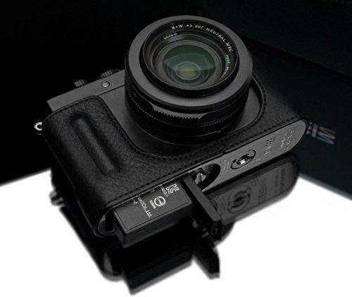 Gariz Genuine Leather HG-DLUXBK Camera Metal Half Case for Leica DLUX D-LUX7 (Typ 109), Black