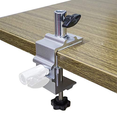 """(Replacement Clamp for 1/2"""" Base Magnifying Lamp,Desk Lamp,Magnify Lamp,Swing Arm Lamp,Phone Mount,Ipad Mount,Tablet Holder,Mic Holder (Silver))"""