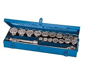 Silverline 633663 - Juego de vasos para llaves (tamaño: 3/4pulgadas, pack de 21)