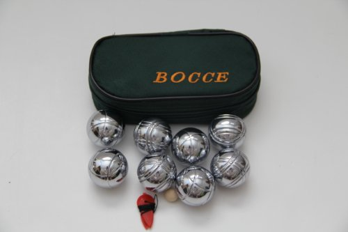 8 Ball 35mm Metal Mini Bocce/Petanque Set with green bag - single by BuyBocceBalls by BuyBocceBalls