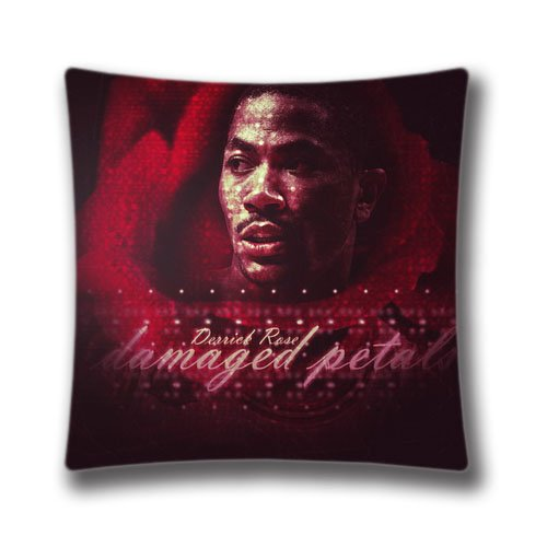 16X16 Inch (Twin Sides) Derrick Rose Damaged Petals Personalized Square Throw Pillow Case Beautiful Decor Cushion Covers,DIC34153 (Petals Square Pillow)