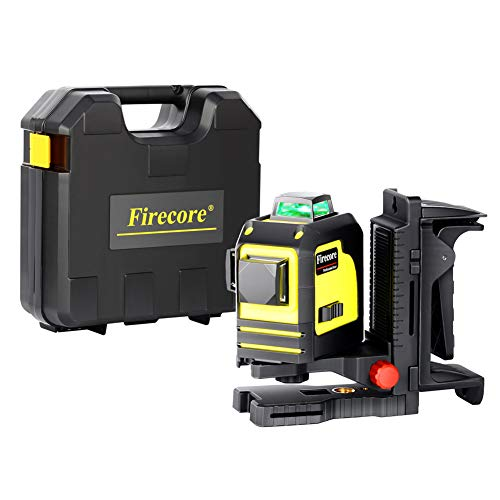 Firecore F93TG Professional 3X360 Line Laser Self-Leveling Tool, Green