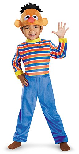 Ernie Deluxe Toddler Costume, Medium (3T-4T)