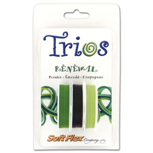 (Soft Flex Trio Bead Wire, Renewal, 0.019 Inch, 10 Feet, Pack of 3 |)
