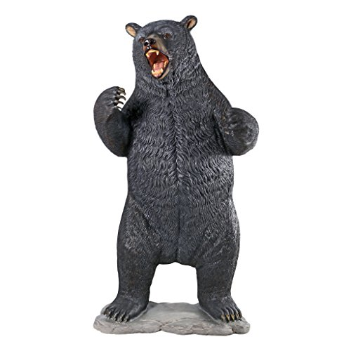Design Toscano Growling Black Bear Life Size Statue