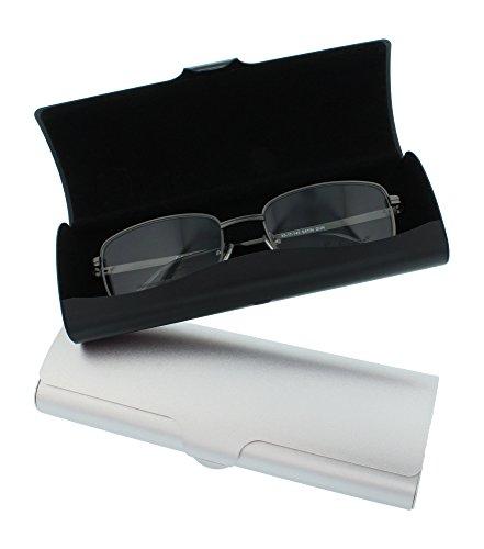 Aluminum Eyeglass Case for Small To Medium Frames In Black