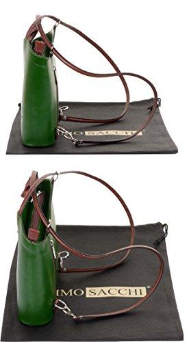 la sac Sac et sac moyennes nbsp;Comprend à main de main sac italien protecteur en à marque et nbsp;Versions cuir à de fabriqué ou un Vert dos grandes bandoulière rangement Marron à Moyen qEEPwr