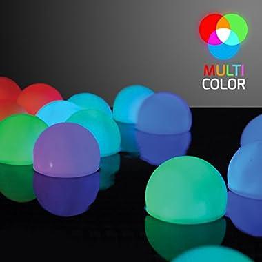 Set of 12 Mood Light Garden Deco Balls (Light up Orbs)