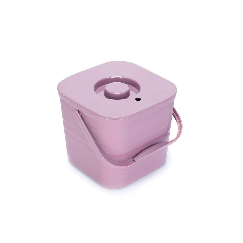 Trash can Trash can Tea Bucket Tea Residue Barrel Household Waste Bin Tea Set Tea Table Water Bucket (Color : Pink)