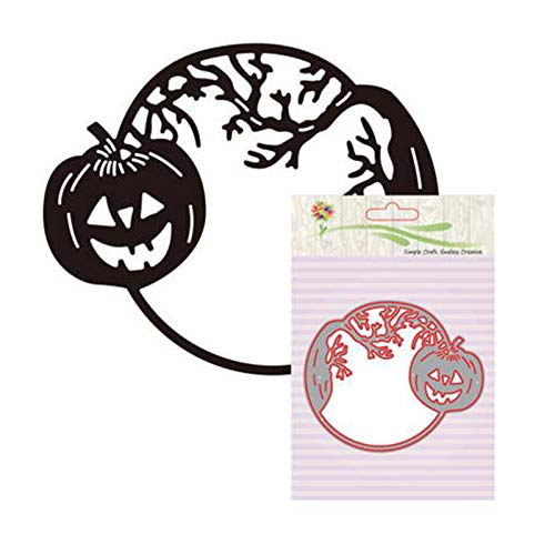 (MOJITO LIVING Halloween Holidays Pumpkin Metal Cutting Dies Stencils DIY Photo Album Decorative Embossing Paper Card Dies Cut For)