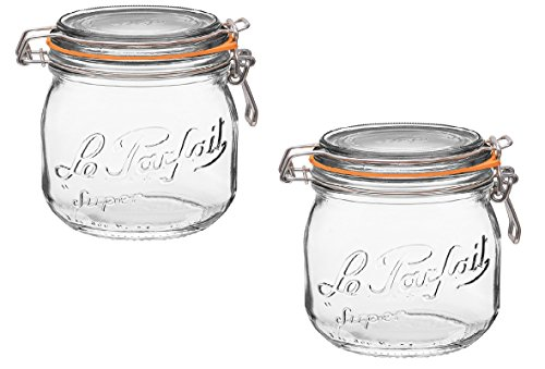 ass Canning Jar with 85mm Gasket and Lid, .5 Liter (Pack of 2) ()