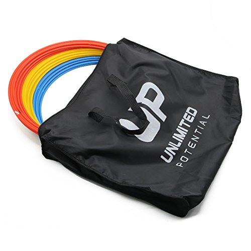Unlimited Potential Speed Rings Agility Training Rings Tennis Soccer Football Basketball Training Aid With Carrying Bag