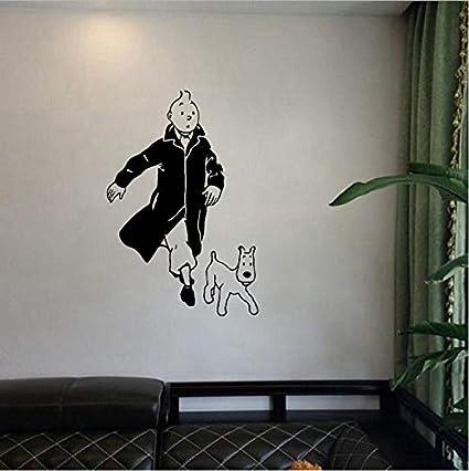 Xmydeshoop Tintin Avec Chien Dessin Anime Vinyle Sticker