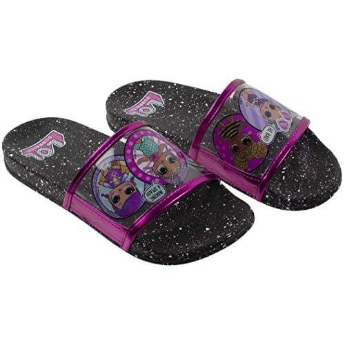 Girls 11-3 Double Buckle Slide Sandals Surprise L.O.L