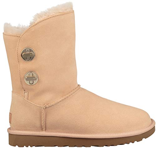 UGG Womens Classic Short Turnlock Boot, Amberlight, Size 8 ()