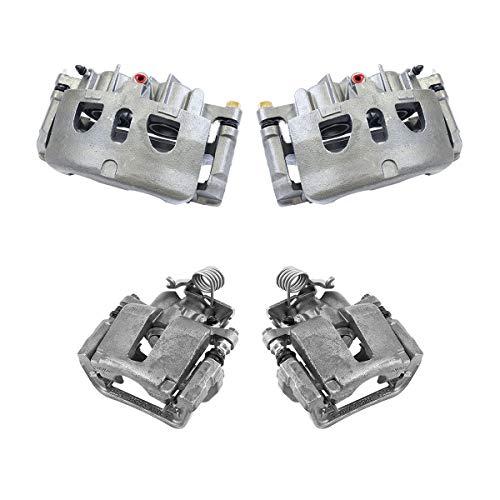 CCK02844 FRONT + REAR [4] Premium Grade Semi-Loaded OE Caliper Assembly Set Kit
