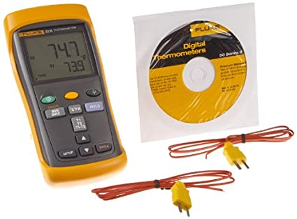 FLUKE 52 - 2 entrada dual Termómetro digital, 3 pilas AA, -418 a