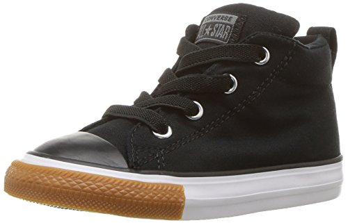 Converse Boys' Chuck Taylor All Star Street Cozy Mid Sneaker, Black, 9 M US Toddler