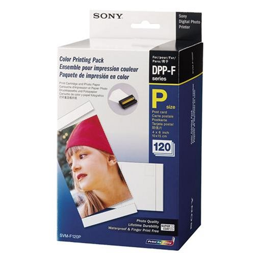 Color Print Paper 120 Pack and 2 Ink Ribbons (Sony Color Print Pack)