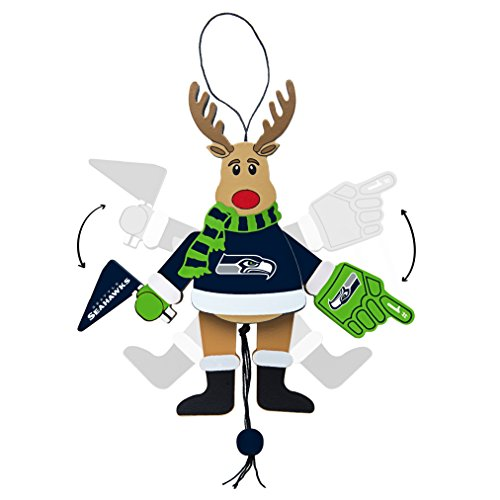 NFL Seattle Wooden Cheer Ornament