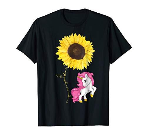 Unicorn Hippe Sunflower Tshirt for Women Men Kids Costume -