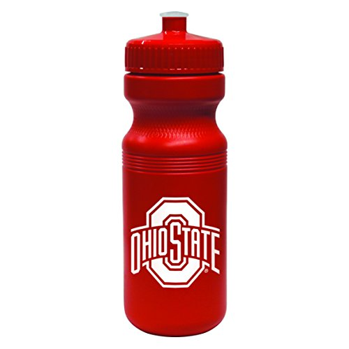 NCAA Ohio State Buckeyes Opaque Squeeze Water Bottle, 24-Ounce