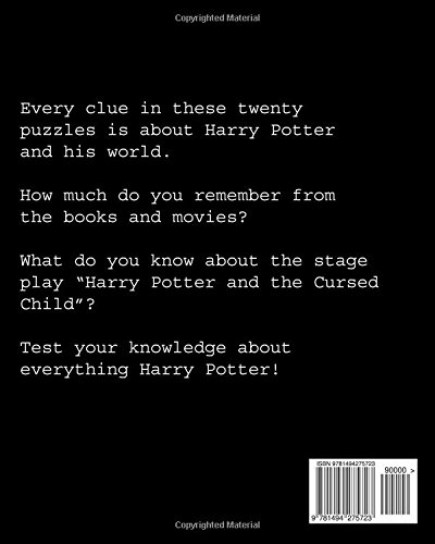 Harry Potter Crossword Puzzles Includes The Cursed Child Stage Play Janenko Patricia 9781494275723 Amazon Com Books