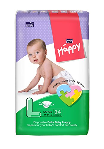 Bella Baby Happy Taped Diapers Large Size 34 Pieces